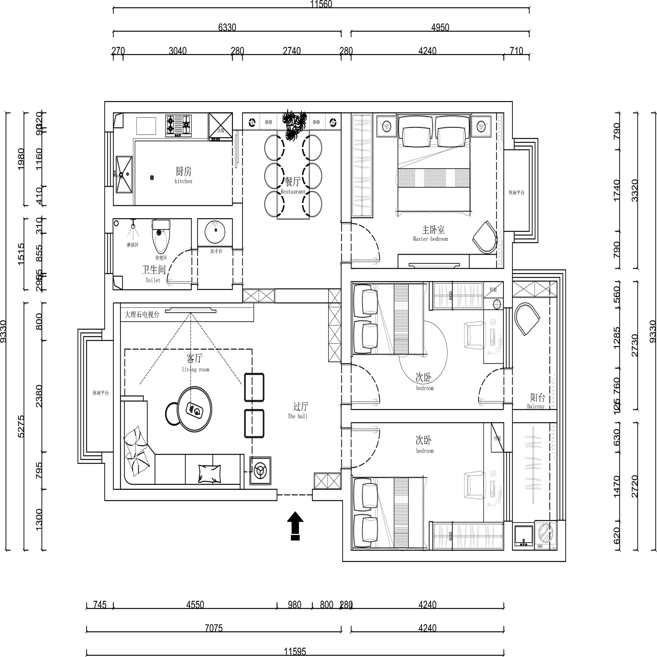泰安大佛寺小区-现代-268㎡装修设计理念