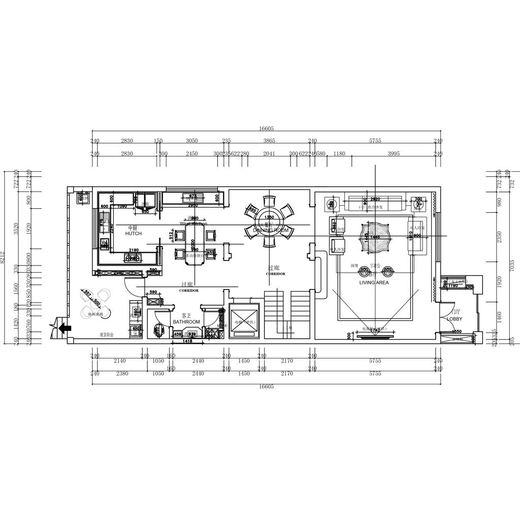 泰安国山墅-轻奢-350㎡装修设计理念